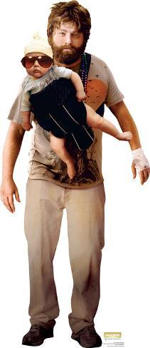 The Hangover - Alan Garner With Baby Lifesize Standup Cardboard Cutouts