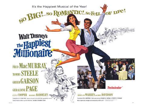 The Happiest Millionaire, 1968 Art Print
