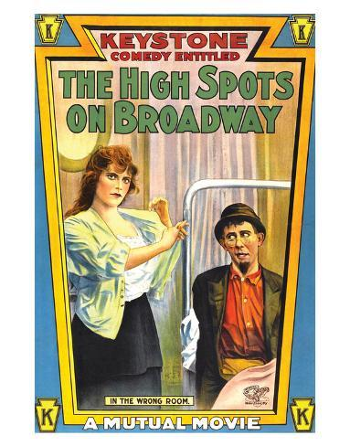 The High Spots On Broadway - 1914 Giclee Print