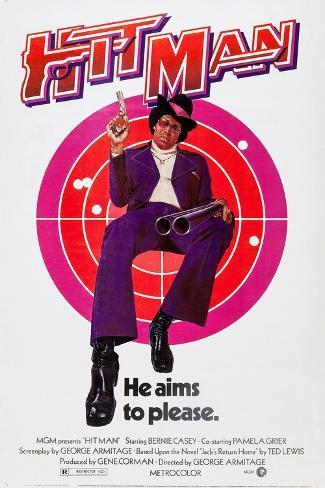 The Hit Man, Bernie Casey, 1972 Art Print