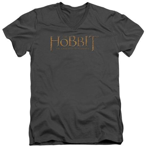 The Hobbit: An Unexpected Journey - Distressed Logo V-Neck V-Necks