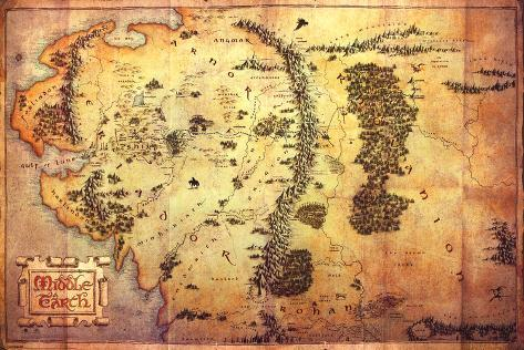 the hobbit an unexpected journey map of middle earth