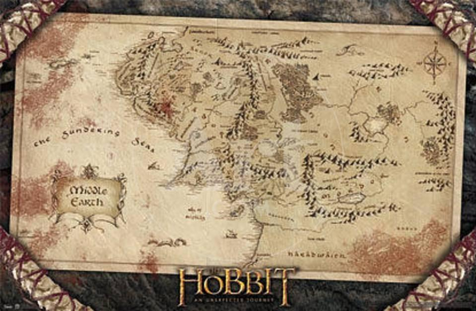 The Hobbit An Unexpected Journey  Map Poster at AllPosterscom