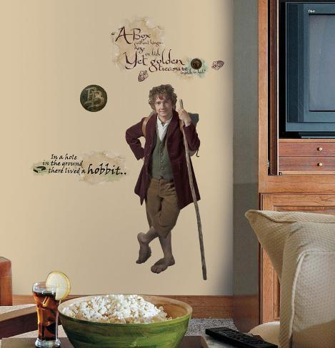 The Hobbit - Bilbo Baggins Giant Peel & Stick Wall Decals Wall Decal
