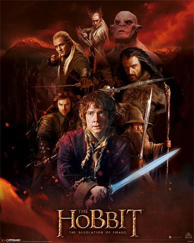 The Hobbit DOS - Fire Montage Mini Poster