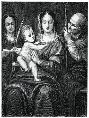 The Holy Family with St Catherine, 1769 Lámina giclée