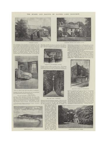 The Homes and Haunts of Alfred Lord Tennyson Giclee Print