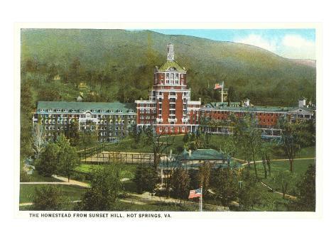 The Homestead, Hot Springs, Virginia Art Print