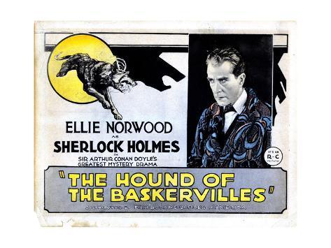 The Hound of the Baskervilles, Eille Norwood, (AKA Ellie Norwood), 1921 Impressão giclée
