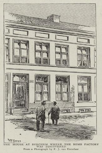 The House at Berchem Where the Bomb Factory Was Discovered Giclee Print