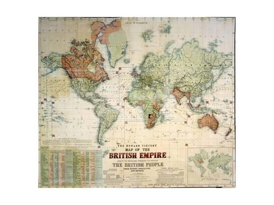 The howard vincent map of the british empire giclee print privacy preference centre gumiabroncs Choice Image