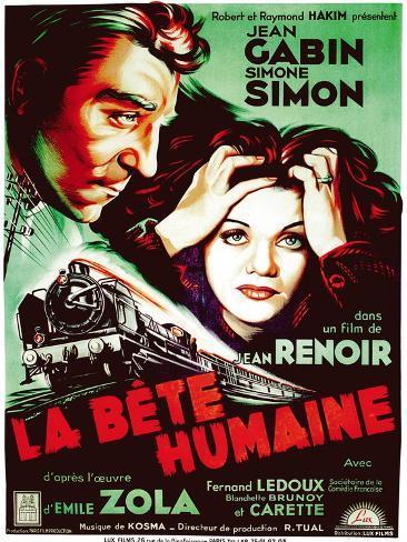 The Human Beast, 1938 (La Bete Humaine) Lámina giclée