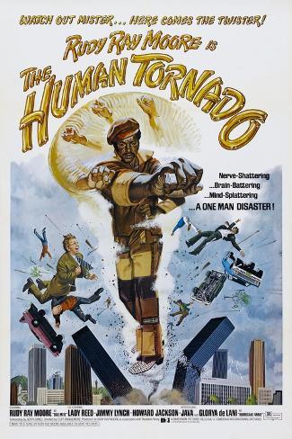 THE HUMAN TORNADO, US poster, Rudy Ray Moore, 1976 Premium Giclee Print