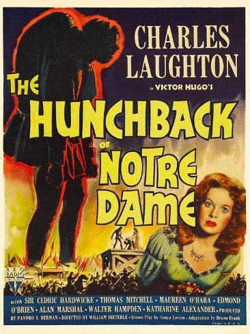 The Hunchback of Notre Dame, Maureen O'Hara, 1939 Art Print