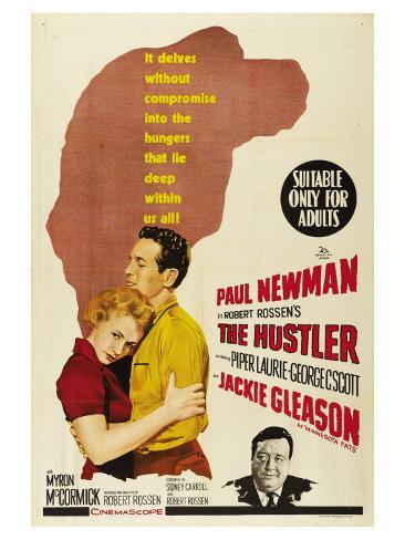 The Hustler, Australian Movie Poster, 1961 Art Print
