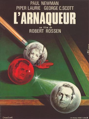 The Hustler, French Movie Poster, 1961 Premium Giclee Print