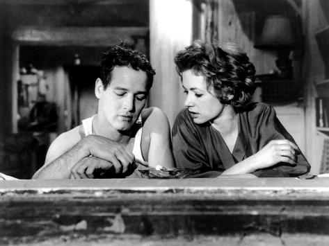 The Hustler, from Left, Paul Newman, Piper Laurie, 1961 Photo