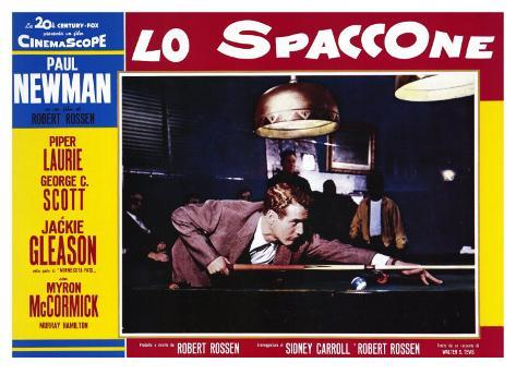 The Hustler, Italian Movie Poster, 1961 Art Print
