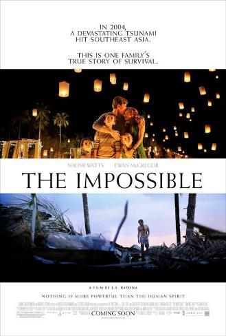 The Impossible (Naomi Watts, Ewan McGregor, Tom Holland) Movie Poster Poster