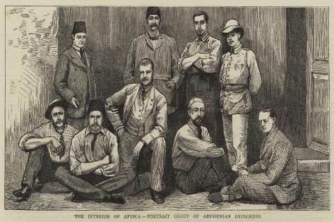 The Interior of Africa, Portrait Group of Abyssinian Explorers Giclee Print