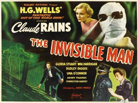 The Invisible Man, 1933, Directed by James Whale Impressão giclée