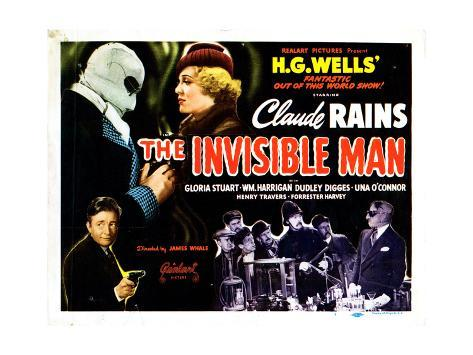 The Invisible Man, 1933 Giclee Print