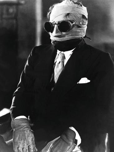 The Invisible Man, Claude Rains, 1933 Fotografía