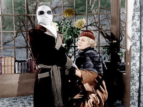 The Invisible Man, Claude Rains, Gloria Stuart, 1933 Photo