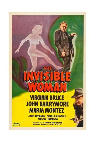 The Invisible Woman, John Barrymore, John Howard, 1940 Impressão artística