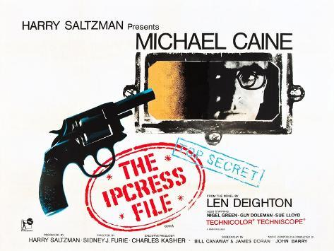THE IPCRESS FILE, Michael Caine, 1965 Konstprint
