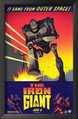 The Iron Giant Impressão artística emoldurada