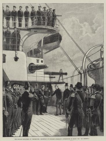 The Italian Squadron at Portsmouth Giclee Print