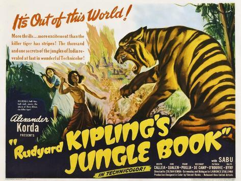 The Jungle Book, 1942 Giclee Print