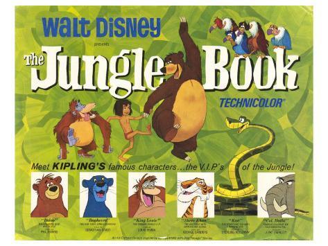 オールポスターズの the jungle book 1967 ポスター