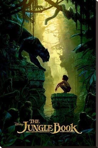 The Jungle Book- Bagheera & Mowgli Teaser Stretched Canvas Print