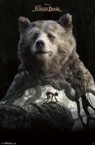 The Jungle Book- Baloo Overlay Pôster
