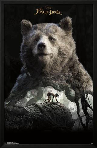 The Jungle Book- Baloo Overlay LAMINAフレーム入りポスター