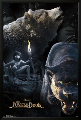 The Jungle Book- Group Lamina Framed Poster