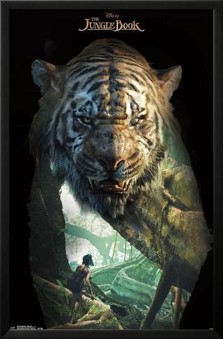 The Jungle Book- Shere Khan Overlay Lamina Framed Poster