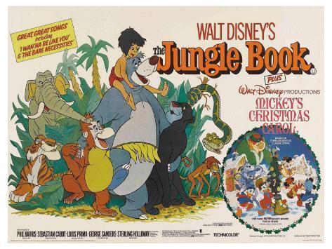 The Jungle Book, UK Movie Poster, 1967 Art Print