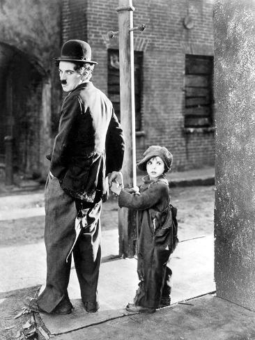 The Kid, Charles Chaplin, Jackie Coogan, 1921 Photo