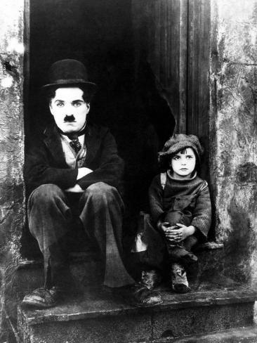 The Kid, Charlie Chaplin, Jackie Coogan, 1921 Photographic Print