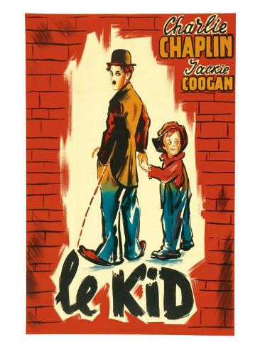 The Kid, French Movie Poster, 1921 Art Print