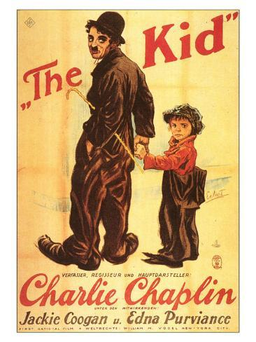 The Kid, German Movie Poster, 1921 アートプリント