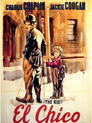 The Kid, Spanish Movie Poster, 1921 Lámina