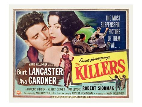 The Killers, Burt Lancaster, Ava Gardner, 1946 Photo