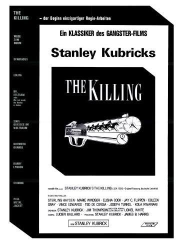 The Killing, German Movie Poster, 1956 アートプリント