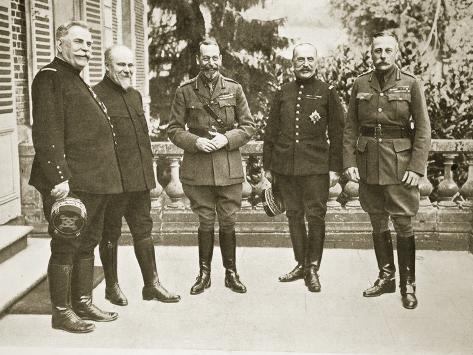The King in France, 1916 Stampa fotografica