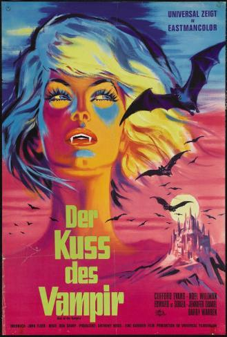 The Kiss of the Vampire - German Style Poster