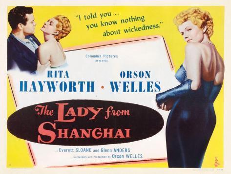 The Lady from Shanghai, 1947 Gicléetryck